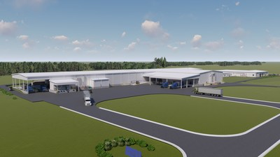 Lockheed Martin will expand its Camden, Arkansas, facility to include two new production buildings which will support manufacturing long range fires and PAC-3 missile defense capabilities, plus expanding current facilities, and hire more than 300 new people (artist rendering).