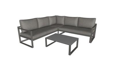 Garten-und-Freizeit.de Corner Lounge with Table 3D Model in AR by CGTrader ARsenal