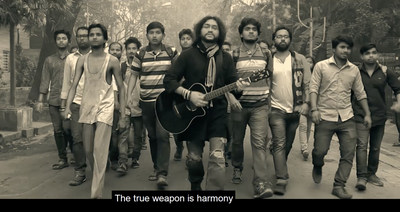 """""""The Real Weapon is Harmony"""" and """"Ashol Ostro Somonyoy"""" (Bengali) has been graciously lent to be used by the rockstar Rupam Islam."""