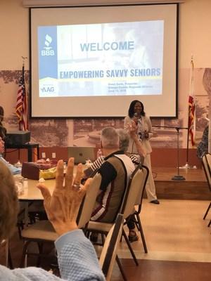 AAG and BBB Savvy Seniors Presentation in Orange, California