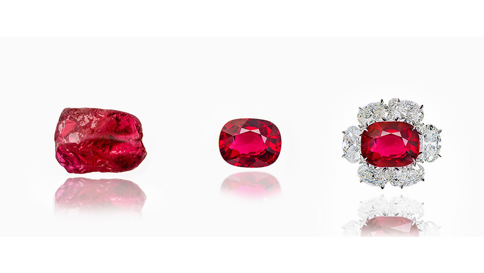 Photo credit: SSEF, GemTrack™ is a service linking cut stones to the rough stones from which they originated, using gemmological techniques