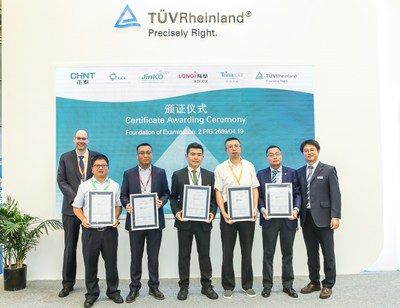 TÜV Rheinland issued the world's first LeTID certificates to Chint, GCL, Jinko Solar, LONGi Solar, and Trina Solar