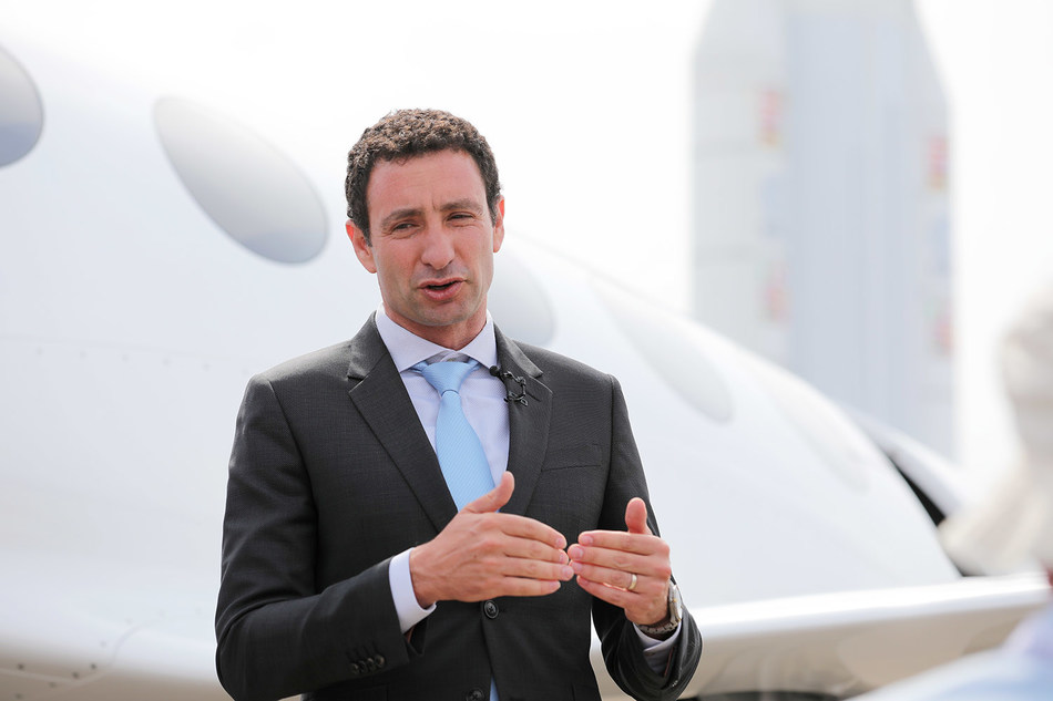 Eviation CEO, Omer Bar-Yohay reveals all-electric Alice at the Paris Air Show.