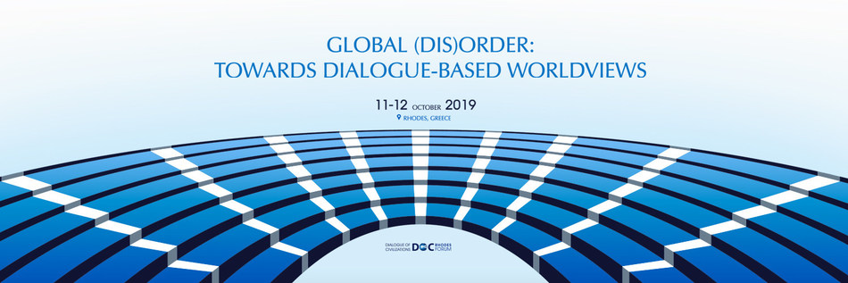 The 17th Rhodes Forum takes place on the Greek island of Rhodes on 11-12 October 2019. For more information and to secure your place please visit www.rhodesforum.org (PRNewsfoto/Dialogue of Civilizations Resea)