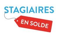 Logo : campagne de mobilisation Stagiaires en solde (Groupe CNW/Fédération étudiante collégiale du Québec (FECQ))
