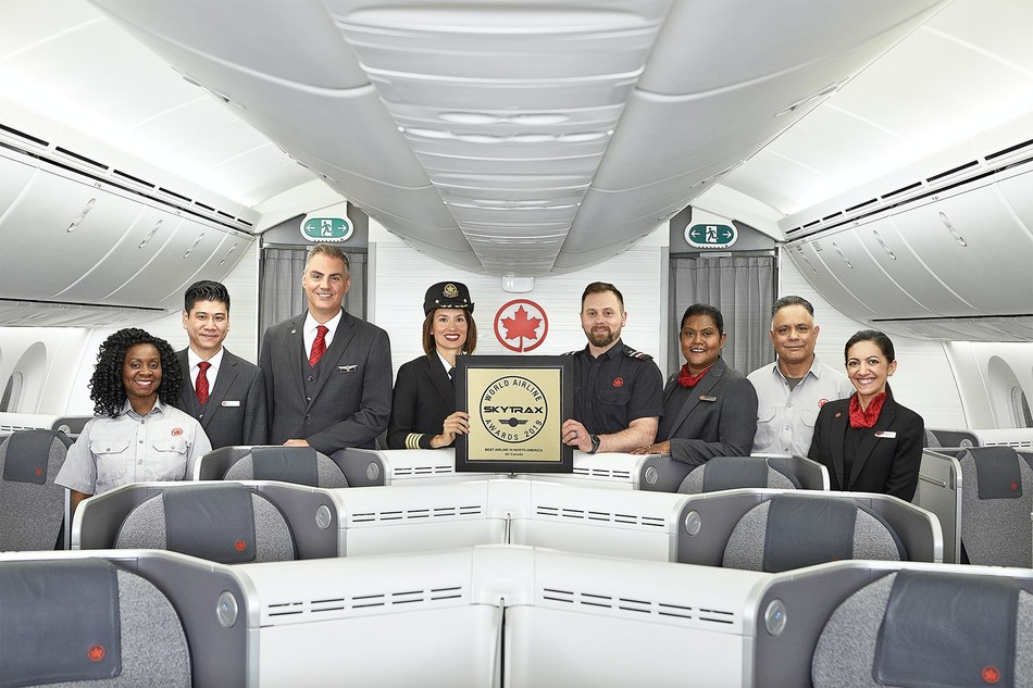Air Canada was named Best Airline in North America for the third consecutive year. (CNW Group/Air Canada)