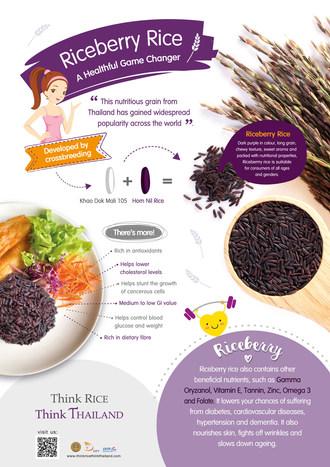 Riz Riceberry : une nouveauté saine en provenance de Thaïlande (PRNewsfoto/Department of Foreign Trade, Mi)