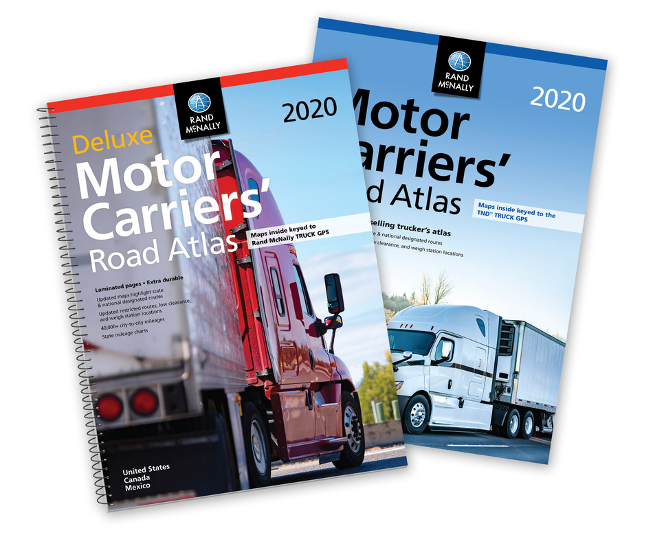 The new editions of the Rand McNally Motor Carrier's Road Atlas are available for professional truck drivers.