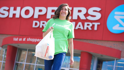 Shoppers Drug Mart now offers home delivery with Instacart in cities across Ontario (CNW Group/Shoppers Drug Mart)