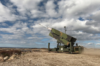An AIM-9X® Block II missile was fired from a NASAMS launcher in a demonstration test last month in Norway. (Photo: KONGSBERG)