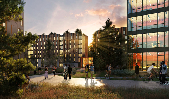 The HED-designed Heller site portion of Student Housing West will include approximately 800,000 square feet of housing plus cafe, market, and wellness amenities.