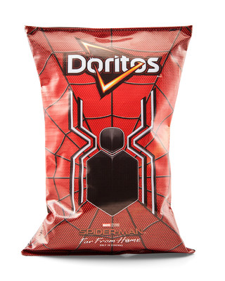 "Spider-Man™:  Far  From  Home  And  Doritos®  Join  Forces  to  Design  ""Incognito  Doritos""  Bags  that  Covertly  Transform  into  Official  Replica  of  the  Spider-Man  Suit"
