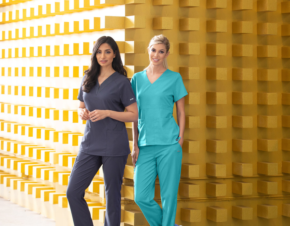 "The classic ""Grey's Anatomy"" line of scrubs now includes added Spandex-Stretch for unrivaled comfort and flexibility."