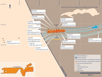 Figure 2 –Planned Summer Drilling Area (CNW Group/IsoEnergy Ltd.)