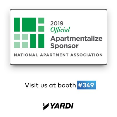 Yardi® returns to Apartmentalize 2019 to provide attendees with answers to their real estate questions during three expert-led educational sessions and one-on-one meetings in the Yardi booth