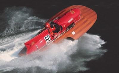 全球唯一搭载法拉利发动机的水上飞机快艇的画面