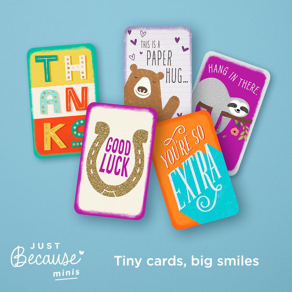 Hallmark Just Because mini-cards