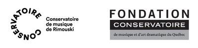 Logos du Conservatoire de musique de Rimouski et de la Fondation du Conservatoire de musique et d'art dramatique du Québec (Groupe CNW/Conservatoire de musique et d'art dramatique du Québec)