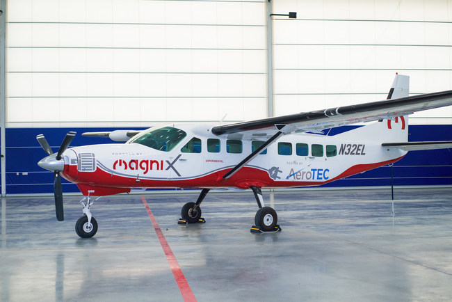 AeroTEC and magniX are working together to advance magniX's certification process for the magniX 750 horsepower magni500 all-electric propulsion system on a Cessna Caravan 208B.