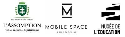 Logos : L'Assomption, Mobile Space et Musée de l'Éducation (Groupe CNW/VILLE DE L'ASSOMPTION)