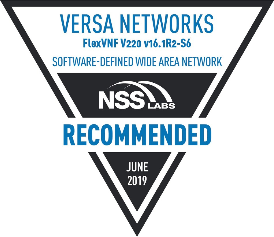 Versa Networks Recommended Secure SD-WAN Solution (PRNewsfoto/Versa Networks)