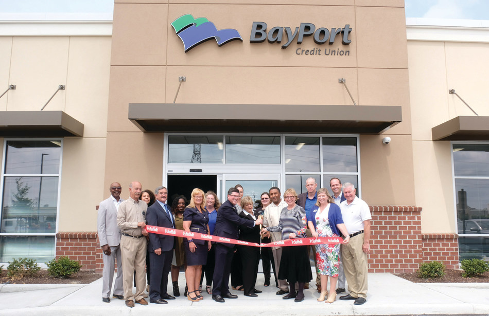 BayPort celebrated its new branch location in North Suffolk with an official ribbon-cutting and grand opening ceremony attended by Suffolk Mayor Linda T. Johnson and BayPort President and CEO, Jim Mears.