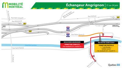 Boulevard Angrignon, FDS 21 juin (Groupe CNW/Ministère des Transports)