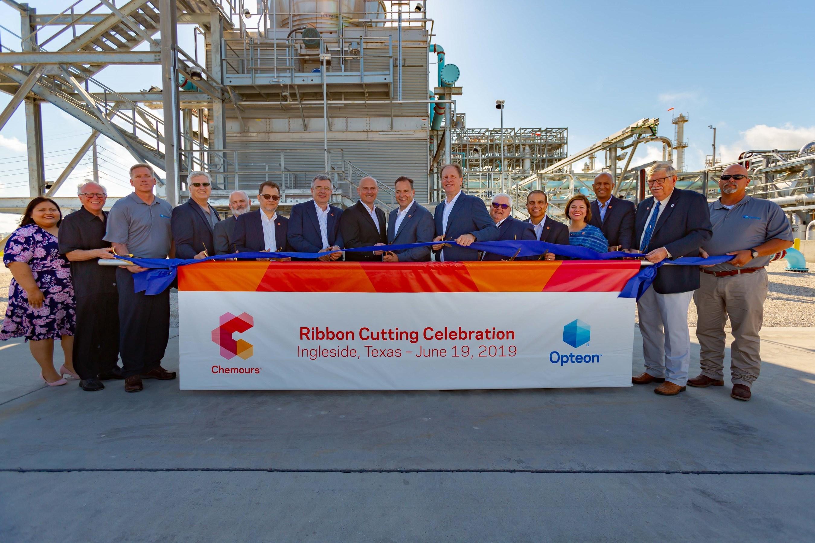 Chemours Inaugurates New Opteon™ Refrigerants Facility Near