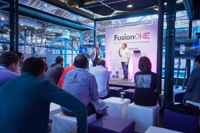 Leo D'Angelo demonstrates Allied Payment Network's Pay Now technology at Finastra's FusionONE open banking developer conference, held May 21 & 22, 2019 in London.