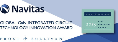Navitas Earns 2019 Global Technology Innovation Award for GaNFast™ Power ICs