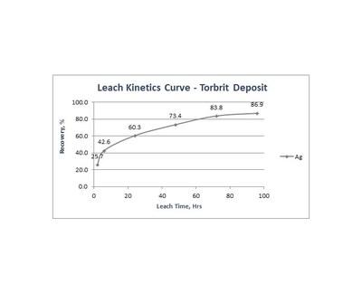 Leach Kinetics Curve Torbrit Deposit (CNW Group/Dolly Varden Silver Corp.)