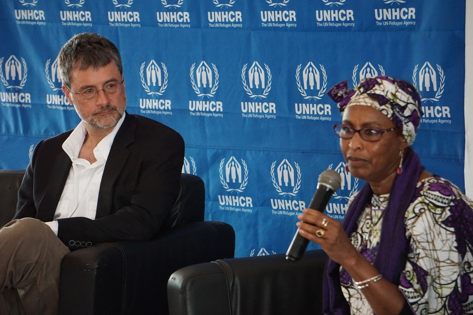 Stephen Liptrap speaking on a panel with Fathiaa Abdalla, UNHCR Kenya Country Representative (CNW Group/Morneau Shepell Inc.)