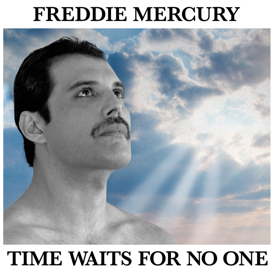 """A remarkable, unreleased Freddie Mercury track titled """"Time Waits For No One"""" was released today after more than four decades. The song is a stunning stripped-down performance of """"Time"""" from the 1986 musical of the same name, produced by Mercury's longtime friend musician/songwriter/producer Dave Clark of the Dave Clark Five."""