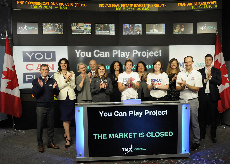 You Can Play Project Closes the Market (CNW Group/TMX Group Limited)