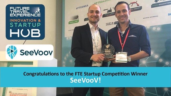 SeeVoov Wins Another International Travel Industry Award - Future Travel Experience Ancillary 2019 Startup (PRNewsfoto/SeeVoov)