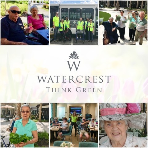 At Watercrest Senior Living communities across the state, residents and associates embarked upon a month-long 'Think Green' movement, part of a themed series of Watercrest's Common Unity initiatives.