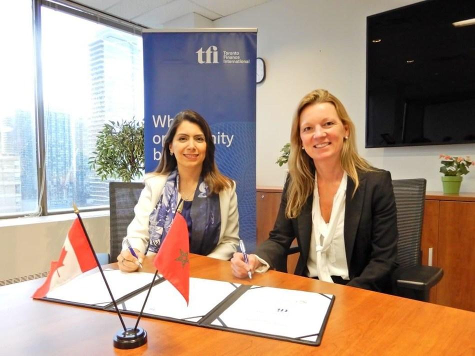 Manal Bernoussi, Strategy, Marketing & Communications Director of CFC and Jenifer Reynolds, CEO of TFI (PRNewsfoto/CFC and TFI)