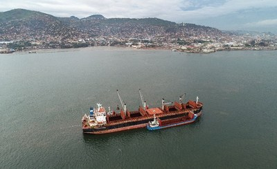 SL Mining ships first iron ore delivery from Freetown Port in Sierra Leone