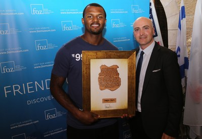Deshaun Watson visits the Friends of Zion Museum in Israel