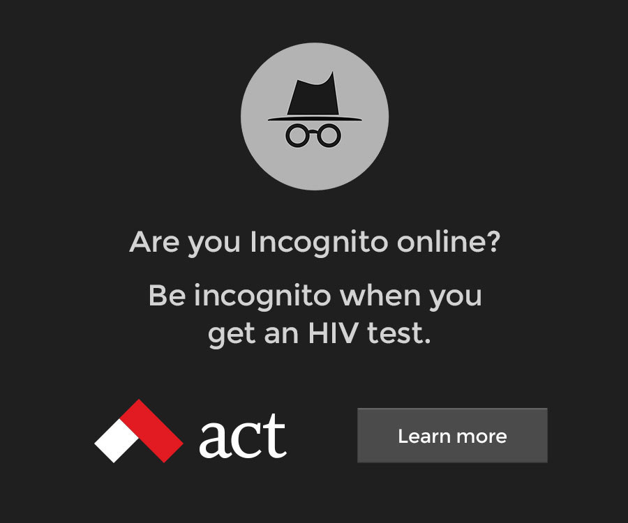 Incognito ad example (CNW Group/ACT (formerly Aids Committee of Toronto))