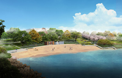 Built with environmental protection and sustainable development in mind, Verdun's urban beach will be open to the public starting on June 22, offering Montrealers and Verdunites privileged access to the St. Lawrence River and its shores. (CNW Group/Ville de Montréal - Arrondissement de Verdun)