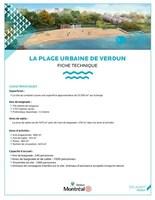 La plage urbaine de Verdun - Fiche technique (Groupe CNW/Ville de Montréal - Arrondissement de Verdun)