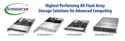 Supermicro Introduces Industry's First Server & Storage Systems Supporting EDSFF - First Compact Open Industry Standard for All-Flash NVMe Optimized Storage