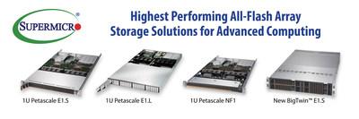 美超微推出业界首个支持EDSFF的服务器与存储系统