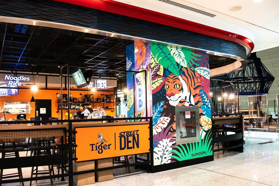 Tiger Beer's latest experiential concept store Tiger Street Den at Dubai International Airport (DXB)