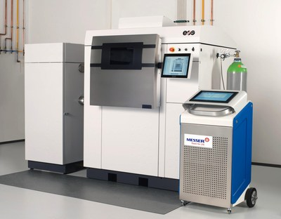 Atmosphere Control Systems for Powder Metals: Messer will feature new atmosphere control systems for producing high quality powder-metal components at PowderMet 2019, including the portable unit at right that precisely monitors and controls the inert atmosphere inside the 3D printer. The control system is ideal for laser powder bed fusion.