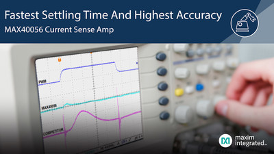 Maxim's bi-directional current sense amplifier, MAX40056 with PWM rejection offers the industry's highest accuracy and fastest settling time for greater motor efficiency.