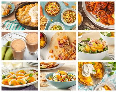 """Nueve recetas nuevas """"Quick and Easy"""" con duraznos Cling de California. Simples, prácticas y deliciosas"""