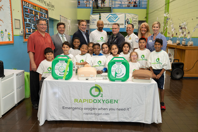 Rapid Oxygen Donation To Boys & Girls Clubs: Emergency Oxygen Helps To Save Lives!