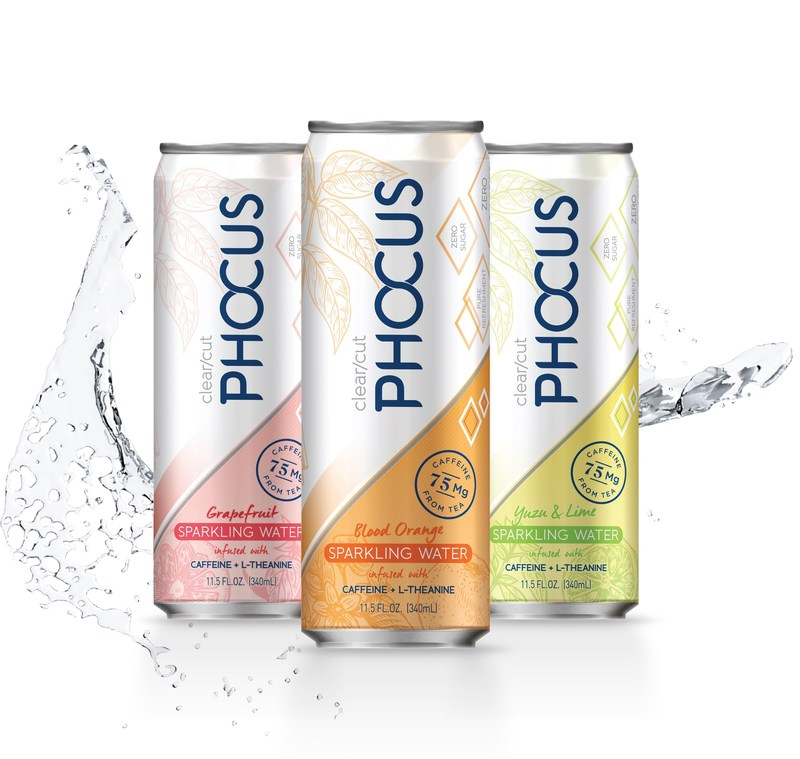 Clear/Cut Phocus™ (Phocus) naturally caffeinated sparkling water is available at CVS locations nationwide as part of the pharmacy retailer's better-for-you food and beverage initiative.